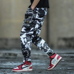 Japanese pants online shopping - Fashion Streetwear Men Jeans Camouflage Army Pants hombre Japanese Style Big Pocket Cargo Pants Hip Hop Joggers