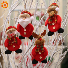 $enCountryForm.capitalKeyWord Australia - 1PC Cute Red Christmas Santa Claus Pendants Ornaments for Christmas Party Decorations Kids Gifts Xmas Tree Door Home Decoration