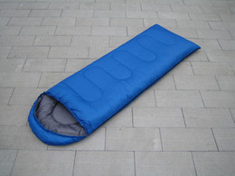 outdoor adult sleeping bags NZ - Envelope Sleeping Bag with A Cap In Spring, Summer and Autumn Outdoor Camping Adult Sleeping Bag