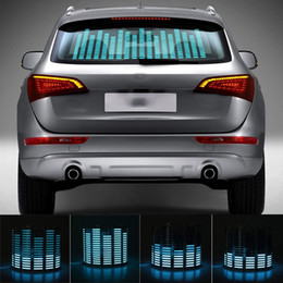 $enCountryForm.capitalKeyWord Australia - Niscarda Car Blue LED Music Rhythm Flash Light Sound Activated Sensor Equalizer Rear Windshield Sticker Styling Neon Lamp Kit