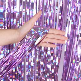 Engagement Party Packs Australia - wholesale Multi-size 1*2M birthday party laser backdrops decoration curtains packs supplier wedding graduation engagement princess stage