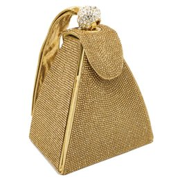 $enCountryForm.capitalKeyWord UK - Vintage Diamond Bridal Wedding Purse Mini Gray Pyramid Party Handbags Women Bag Wristlets Clutches Crystal Evening Clutch Bags