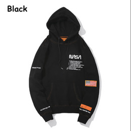 6490b673992 NASA Hoodie Streetwear Hip Hop Sweatshirts fashion American Flag Coats  Jackets Hoody Hoodies Sweatshirts For Men and Women lovers