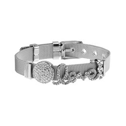 Wholesale Fashion women s stainless steel can be DIY mesh belt buckle adjustable charm bracelet bracelet jewelry gift