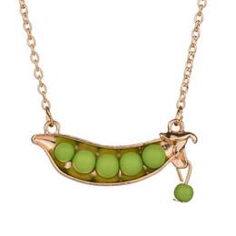 $enCountryForm.capitalKeyWord Australia - 2019 Fashion Statement Jewelry Japanese Style Cute Green Pea Pendant Necklace Collar Sweater Necklace Women Gift N675