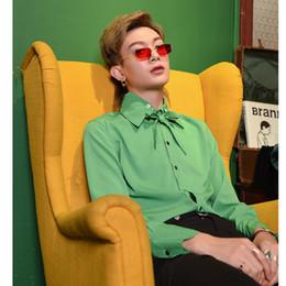 $enCountryForm.capitalKeyWord Australia - 2019 spring autumn Men England style personality unique design shirts men casual slim long sleeve Green shirt stage costumes