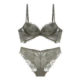 9d4aa6588ccb3 34a Transparent Bra Cup Australia - Sexy floral Lace Bra Set Women  Underwear Set Push Up