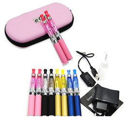 Ego T Cases Australia - Ego t ce4 double starter kit 1.6ml ce4 atomizer clearomizer 650 900 1100mAh ego-t battery zipper case colorful