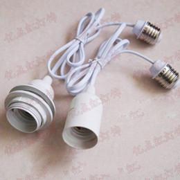 Prolunga del supporto E27 della lampada paralume appeso filo di collegamento adattatore presa di luce convertitori adattatori E26 E27 vite in Offerta