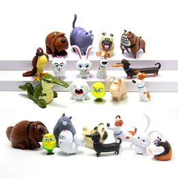 Cat Dog Figures Australia - 14pcs set the Secret Pets Life of Pets PVC Snowball Gidget Mel Max Duke Dog Cat Rabbit Action Figure Toys