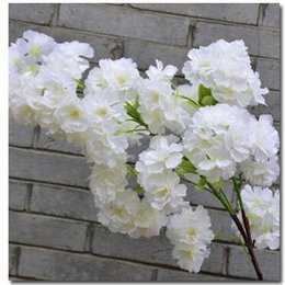 bulk vines UK - Artificial flowers Stardrone Cherry blossoms silk sakura very densy cherry blossom wedding accessories good quality flower products