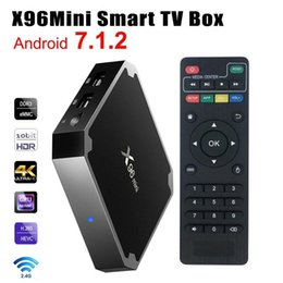Wholesalers Android Boxes Australia - X96 mini Android 7.1 Smart TV BOX 1GB + 8GB 2GB + 16GBKodi 17.3 S905W Media Player Amlogic Quad Core Wifi 4K Internet TV Set-top Box