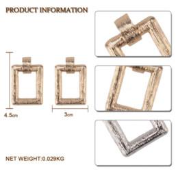 $enCountryForm.capitalKeyWord Australia - Fashion ZA Metal Gold Square Drop Dangle Earrings For Women Bohemian Jewelry Charm Pendant Statement Earings Christmas Gifts Hot