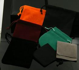 $enCountryForm.capitalKeyWord NZ - Brand name high-end jewelry velvet bag 10*10 bracelet necklace bracelet ring dust bag wholesale various color velvet bag