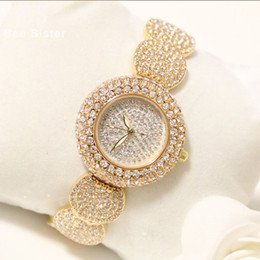 Discount full crystal women watches - Full Diamond Watches Women 2019 Desiger Ladies Wrist Watches Gold Female Clock Crystal Women Wristwatch Reloj Mujer