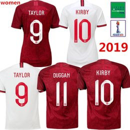 Wholesale soccer uk for sale – custom 2019 woman ENGLAND SOCCER JERSEYS UK WORLD CUP HOME WHITE AWAY RED Camiseta De Futbol JERSEY FOOTBALL SHIRTS Maillot De Foot