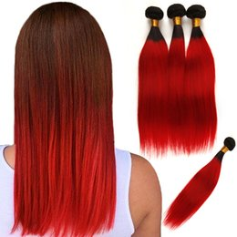 $enCountryForm.capitalKeyWord Australia - Top Quality Ombre Peruvian Virgin Hair Weaves Bundles Two Tone 1B 99J Wine Red Blue Grey Peruvian Straight Human Hair Extensions