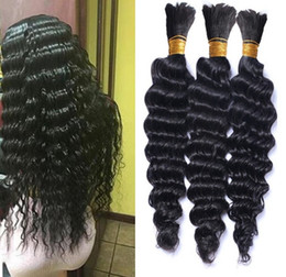brazilian micro braids UK - Braiding Hair Whlesale Deep Wave Crochet braids Curly Bulk Deep Curly Hair Bulk for micro ring beads