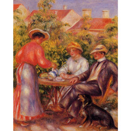 personalized figures Australia - Hand painted wall art modern The Cup of Tea by Renoir Pierre Auguste Renoir Canvas Landscapes oil paintings Personalized Gift