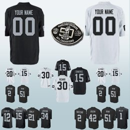bab4a99b8 30 Jalen Richard 15 Michael Crabtree Oakland jerseys Raider 32 Marcus Allen  7 Marquette King Can be customized jersey