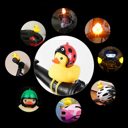 $enCountryForm.capitalKeyWord Australia - Little Yellow Duck Bicycle Bell Ducks Bells Wear Helmet Cute Creative bike Ornament LED Motorcycle Decoration Party Favor GGA2372
