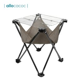 Glasses Storage Australia - Allocacoc Portable Folding BBQ Grill with Storage Bag