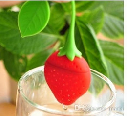 teapot infusers Australia - Marki Lovely Fruit Strawberry Shape Tea Infuser Food Grade Silicone Tea Strainer For Loosing Leaf In Teapot 15k 100pc