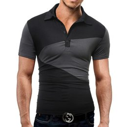 Tees Shirts Australia - Brand Men'S T Shirt 2017 Summer Fashion Lapel Short-Sleeved Tees Male Camisa Casual T-Shirt Slim Male DD02