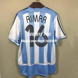 164ee95b4d9 Roman Shirts Australia - Retro Soccer Jersey Pablo Aimar Argentina World  cup 2006 home shirts Kit