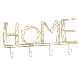 Wall letters art online shopping - Home Storage Iron Art DIY Entryway Organizer Hanging Wall Mounted Letter Decorative Solid Office Bedroom Hallway Key Holder