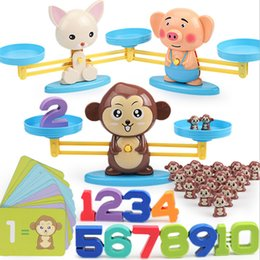 4 styles Explosion early education cartoon animal style baby intelligence early education math balance learning toy children gift Z0555 on Sale