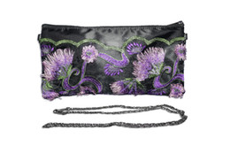 $enCountryForm.capitalKeyWord NZ - Hand Made New designer women lace handbags female Embroidery hand made flowers sequin 2 in 1 Purse Chain shoulder bag zipper bag
