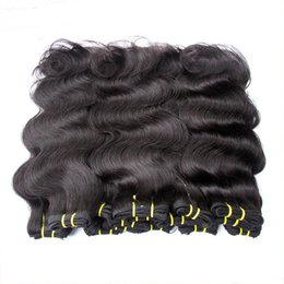 black hair weaving styles Canada - Brazilian hair products wholesale cheap 6a brazilian virgin human hair extensions weaves body wave style mix 1kg 20bundles natural black