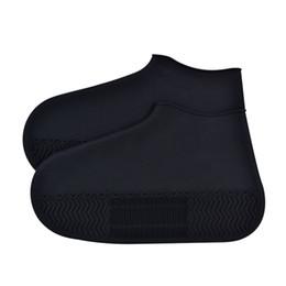 $enCountryForm.capitalKeyWord Australia - 1 Pair Thick Sole Silicone Waterproof Elastic Rain Boots Wear Resistant Reusable Travel Foot Wear Shoe Cover Protector Non Slip