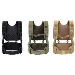$enCountryForm.capitalKeyWord UK - MOLLE Tactical Waist Belt Men Wargame Camouflage VEST Adjustable Outdoor Removable Belt Hunting Vest Accessories