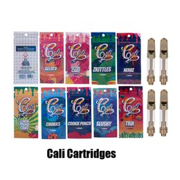 China Cali Plug Carts 1.0ml 1Garm Ceramic Coil Gold Vape Cartridge With Holographic Packaging Bag for Thick Oil Tank suppliers