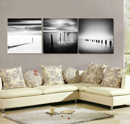 $enCountryForm.capitalKeyWord Australia - 3 Pieces Black White Clouds Landscape Sea Canvas Paintings Printings Wall Paintings Pictures for Living Room Home Decor