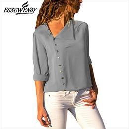 $enCountryForm.capitalKeyWord Australia - New Herfst 2019 Korean Casual Blouse Long Mouw Elegant Women Tops Single Row Button Women Clothing Streetwear Black Shirt