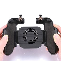 Wholesale fan hands for sale – custom H5 Black Hand Grip USB Cable Gamepad Joystick Retractable ABS Trigger Cooling Fan Battery Holder Controller Mobile Phone