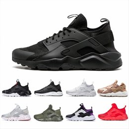 black white stripes roses 2019 - Air Huarache 1.0 4.0 Men Running Shoes Stripe Red Balck White Rose Gold Women Designer Shoes Sport Sneakers cheap black