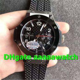 V6 Men Watch Australia - V6 New Luxury Watch 301.SB.131.RX 2011 Watch Stainless Steel Case Ceramic Bezel Rubber Strap 4104 7750 Automatic Movement Men Watch