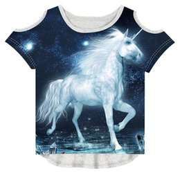 Design Children Shirt Australia - Baby Girl Summer Children Fashion 3d T-shirt Brand Design T Shirt Kids Girl Tees The Unicorn Printing Y19051003