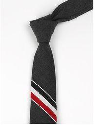 $enCountryForm.capitalKeyWord NZ - European and American fashionable leisure men's narrow three-color strip 5cm Gray Wool accessories tie formal business black fashion gray ti