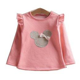 Children White Tees Australia - 2019 New Retail Kids Tops Cartoon long Sleeves T shirt Children Girls good quality t shirt  Children's T-Shirts Child Tops Tee