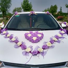$enCountryForm.capitalKeyWord Australia - 3 Style Korean Wedding Car Decorative Flower Simulation Rosse Car Decorative Flower Set Decorative Flowers & Wreaths Y19061103