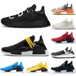 79d8e172f 2019 Runner Cheap Luxury Human Race NMD Runing Shoes Men Women Solar Pack  Black Yellow PW HU HOLI Pharrell Williams Designer Sport Sneakers