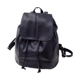 Travel Gifts For Women Australia - Women Backpack Casual Shoulder Bag Students Schoolbag For Teenage Girls Backpack Solid Black Travel Gifts Casual A10329