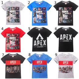a7ca34ca490 Boys Girls Apex legends T-shirts 2019 New Children Cartoon Game cotton  Short sleeve t shirt Baby kids clothing C2