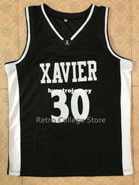 f44d78960  30 David West Xavier College Retro Top stitched Sewn basketball jerseys  Customize any number and name XS-6XL vest Jerseys