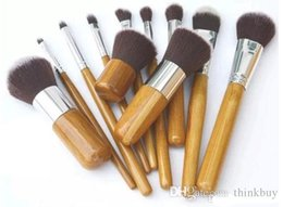 $enCountryForm.capitalKeyWord Australia - Cosmetics Maquiagem Profissional 11 Pcs Professional High Quality Bamboo Makeup Brush Set Goat Hair Cosmetic Brushes Kit with Bag Dhl